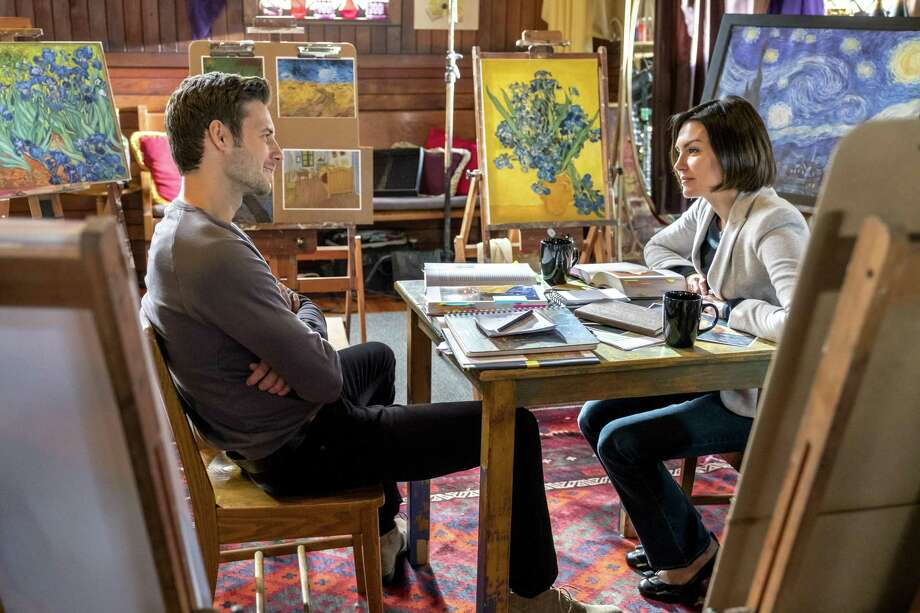 "Taylor Cole plays professor Harper Higgins and Steve Lund portrays Tom Stone in ""The Art of Us,"" Hallmark Channel's adaptation of a San Antonio author's novel. Photo: Crown Media / © Crown Media United States, LLC"