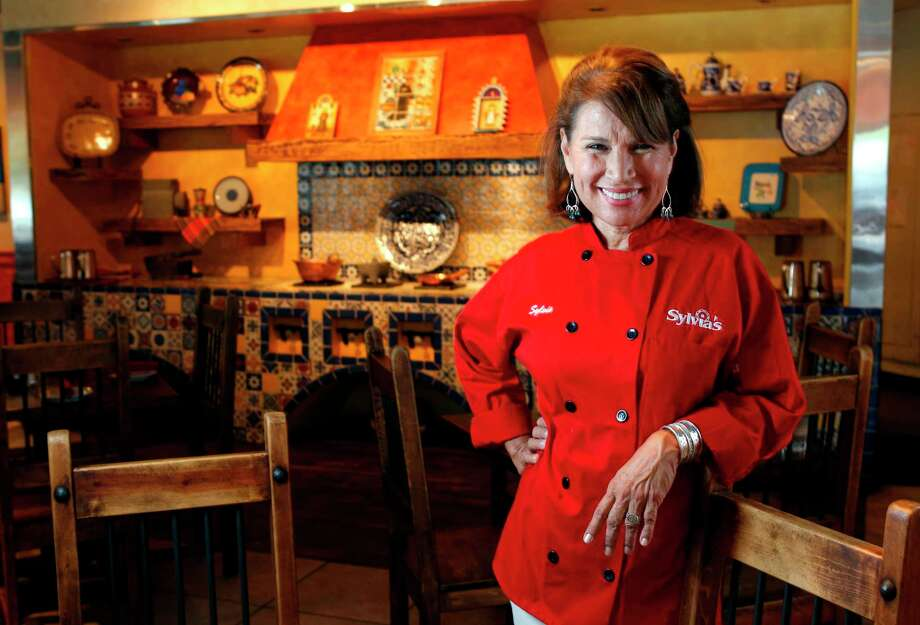 "Sylvia Casares, chef and owner of Sylvia's Enchilada Kitchen, 6401 Woodway. Her 2016 cookbook, ""The Enchilada Queen Cookbook"" was named best cookbook at the 2017 International Latino Book Awards. Photo: Melissa Phillip, Staff / Houston Chronicle"