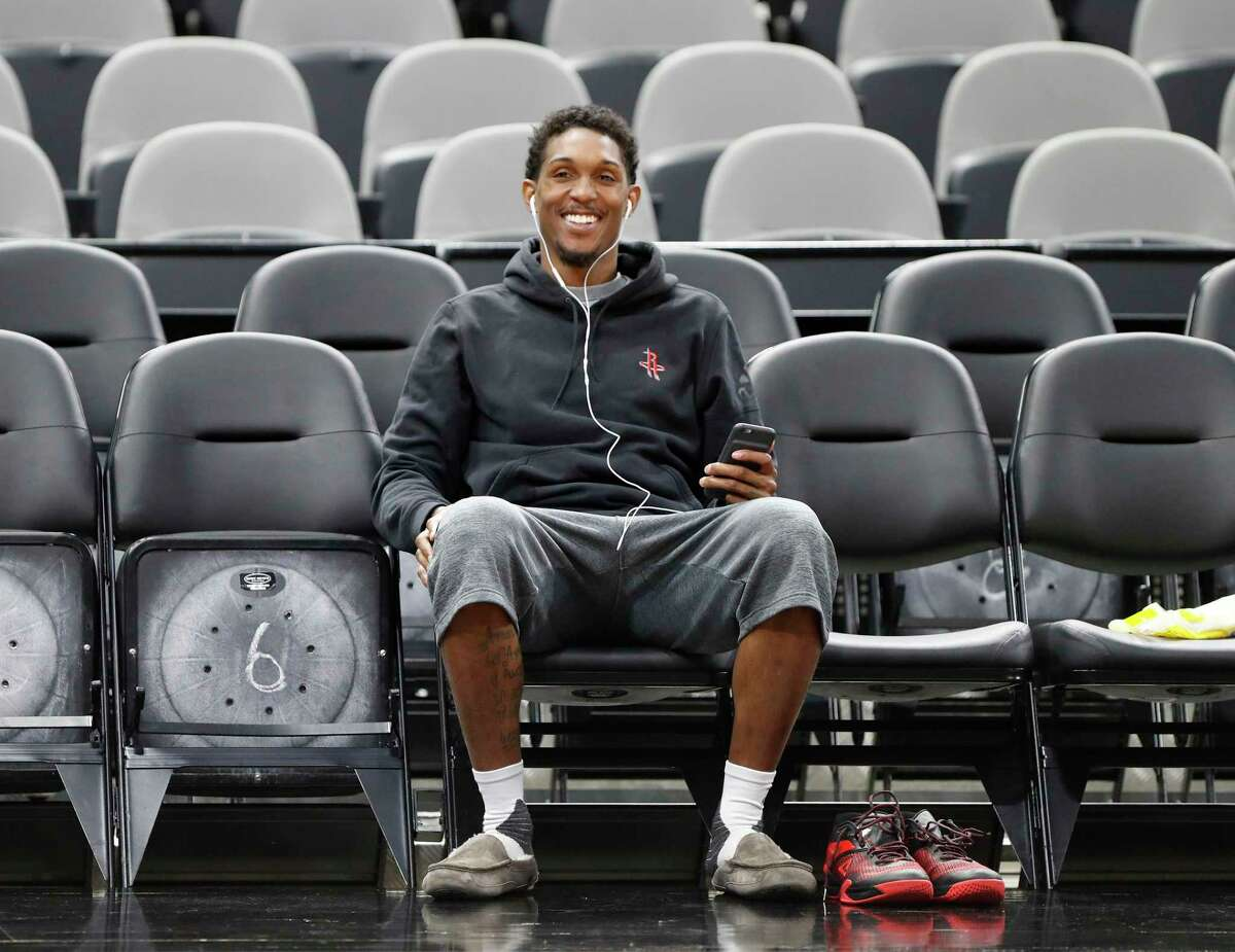 Houston Rockets guard Lou Williams during Rockets practice as they prepare for Game 2 of the second-round of the Western Conference NBA playoffs at AT&T Center, Tuesday, May 2, 2017, in San Antonio.