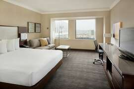 A room at the Hilton San Francisco in Union Square. The California Hotel &p;odging Association president believes it's time for San Francisco to re-open its hotels.
