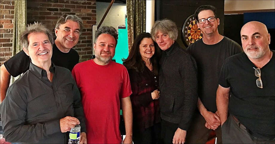 """Garry Tallent's """"Break Time"""" band includes, from left, Garry Tallent, Eddie Angel (guitars), Kevin McKendree (keyboard), Kristi Rose (vocals), Fats Kaplan (violin, fiddle, accordion, lap steel, banjo), Mark Winchester (bass) and Jimmy Lester (drums)."""