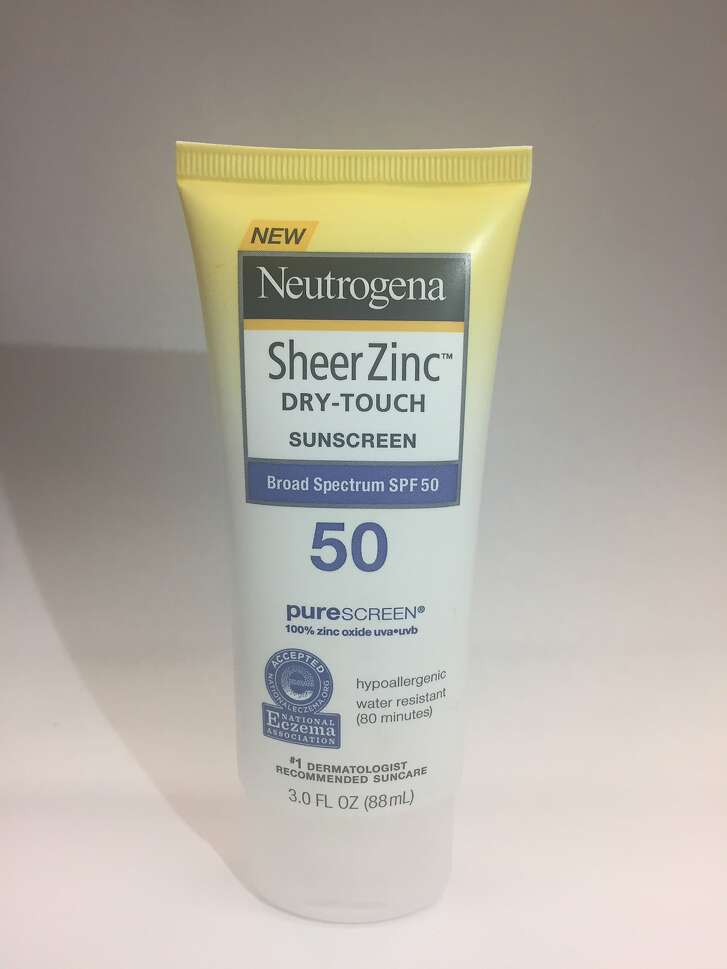 Style tested four sunscreens recently, with favorable results. Neutrogena Sheer Zinc Dry-Touch SPF 50, 3 oz, $10.99 at most drugstores and big box retailers.