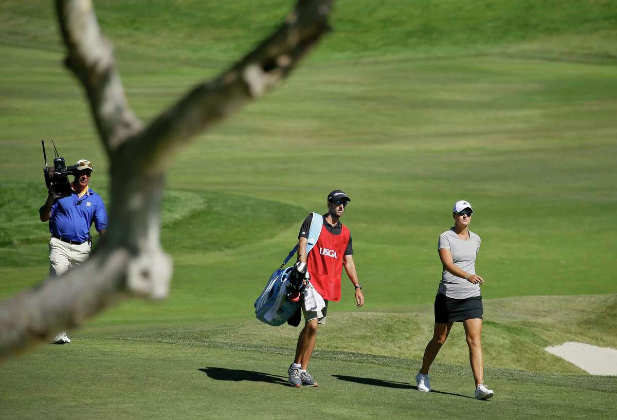 FILE - In this July 10, 2016, file photo, Anna Nordqvist, of Sweden, walks to the green after hitting out of a bunker on the second playoff hole of the U.S. Women's Open golf tournament at CordeValle, in San Martin, Calif. Nordqvist was penalized for clipping sand during a bunker shot in the final round. Golf?'s ruling bodies issued a new guideline Tuesday that limits the use of video evidence in determining rules violations. (AP Photo/Eric Risberg, File) ORG XMIT: NY168