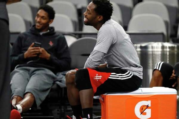 Houston Rockets guard Patrick Beverley during Rockets practice as they prepare for Game 2 of the second-round of the Western Conference NBA playoffs at AT&T Center,  Tuesday, May 2, 2017, in San Antonio. ( Karen Warren / Houston Chronicle )
