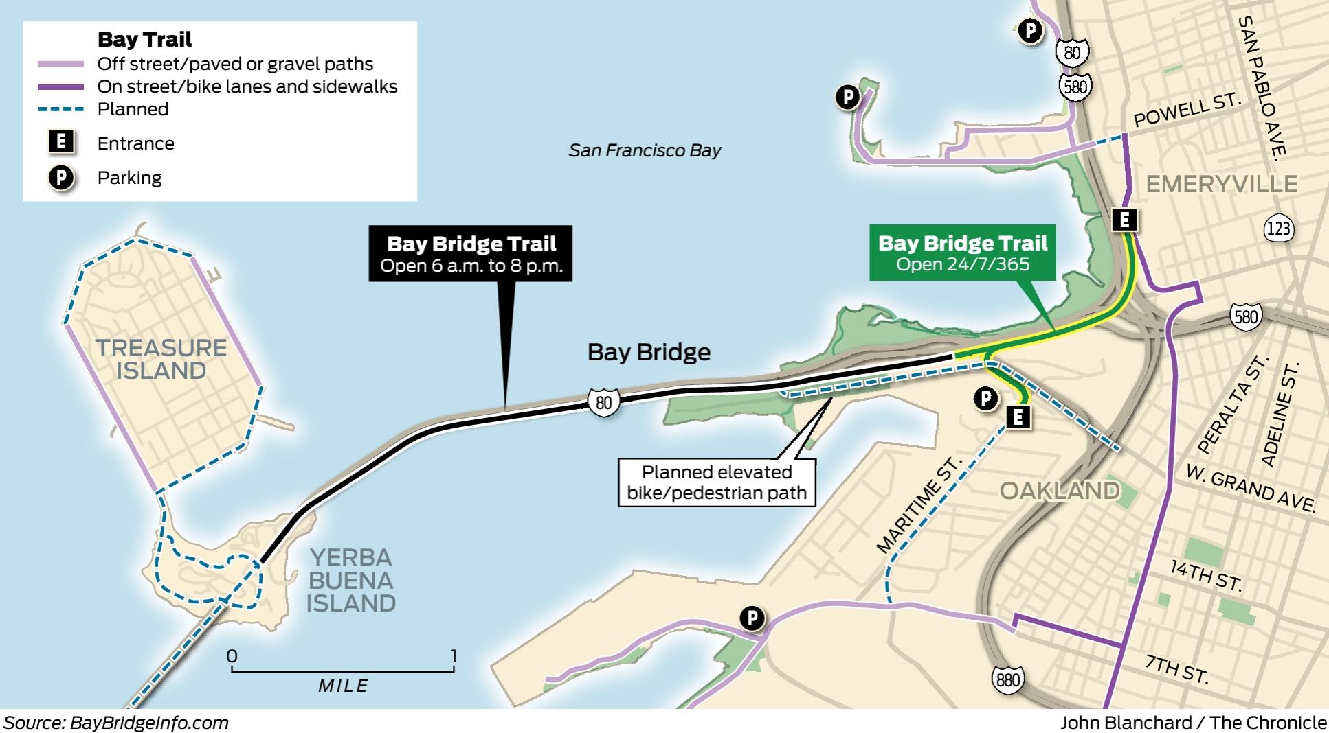 Bay Bridge Bike Ride Now Goes Halfway To Sf 7 Days A Week
