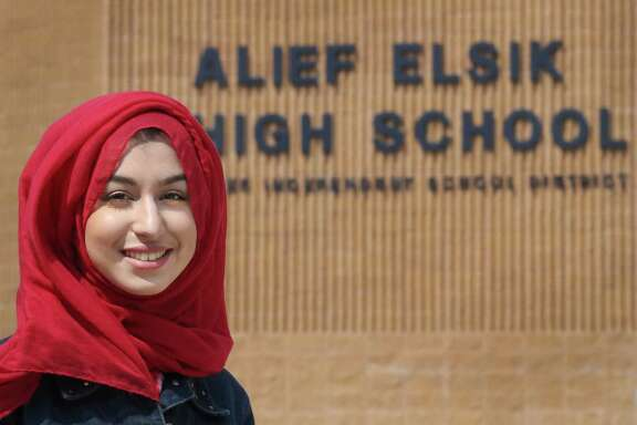 Amina Mabizari is at the top of her class at Alief ISD's Elskin High and accomplished something no other student in Texas has this year: She as accepted into seven of eight Ivy League schools, waitlisted only by Harvard University Friday, April 28, 2017, in Houston.