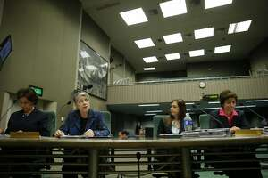 From left: UC Board of Regents president Monica Lozano, University of California president Janet Napolitano, Audit Principal Kathleen Fullerton and California State Auditor Elaine M. Howle during a joint legislative oversight hearing on Tuesday, May 2, 2017, at the California State Capitol in Sacramento, Calif. A state audit found the Napolitano's office collected at least $175 million in secret reserve funds.