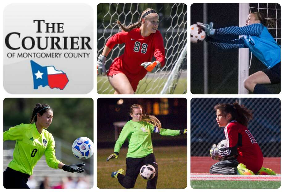 The Woodlands' Ky Hudson, College Park's Bri Robohn, Conroe's Amber Zarate, New Caney's Ashley Potter and Porter's Irma Hernandez are The Courier's nominees for Goalkeeper of the Year.