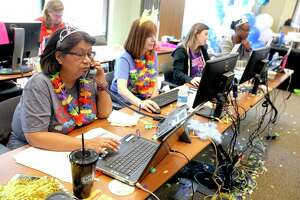 Last year, volunteers at the San Antonio Area Foundation attempted to answer donors' and nonprofits' questions about a computer breakdown during the Big Give. This year, the fundraiser is using a new platform to avoid problems. The Big Give is Thursday.