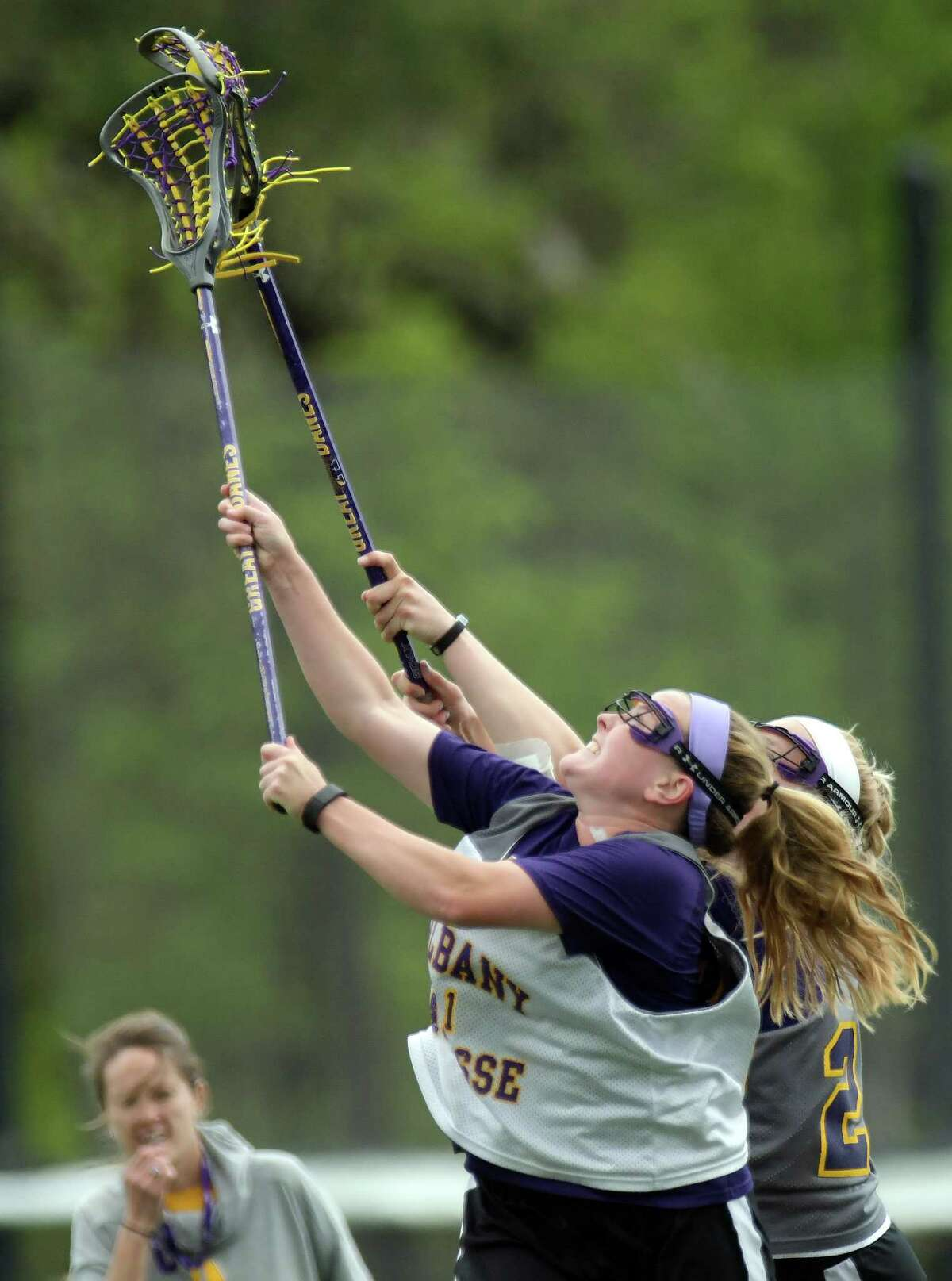 UAlbany women's lacrosse player Sarah Martin takes part in practice on Tuesday, May 2, 2017, in Albany, N.Y. Martin is a nominee for the Tewaaraton Award. (Paul Buckowski / Times Union)