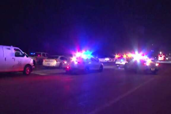 Deputies with the Harris County Sheriff's Office are investigating an auto-pedestrian crash on the North Freeway that left a woman dead Tuesday night. (Metro Video)