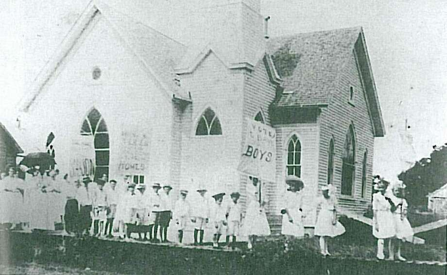 The Baptist Church in Montgomery was the site of a Temperance Parade, where women advocated for limiting the consumption of alcohol, in 1918.