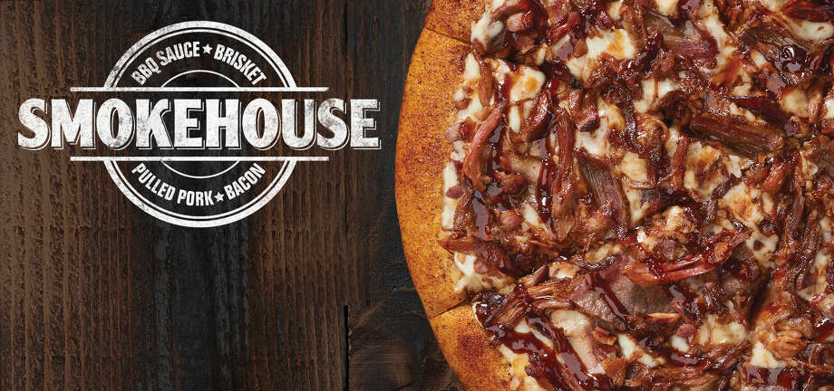 Little Caesar's Smokehouse Pizza has a coating of barbecue seasoning on the crust. Photo: Little Caesar's