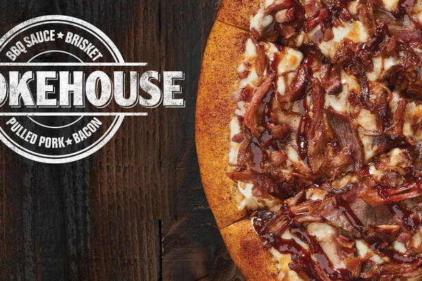 Little Caesar's Smokehouse Pizza has a coating of barbecue seasoning on the crust.