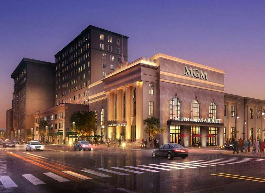 An artist's rendering of MGM Springfield, a resort casino under construction in Massachusetts scheduled to open in late-2018. Photo: Contributed Photo / Contributed Photo / Connecticut Post Contributed