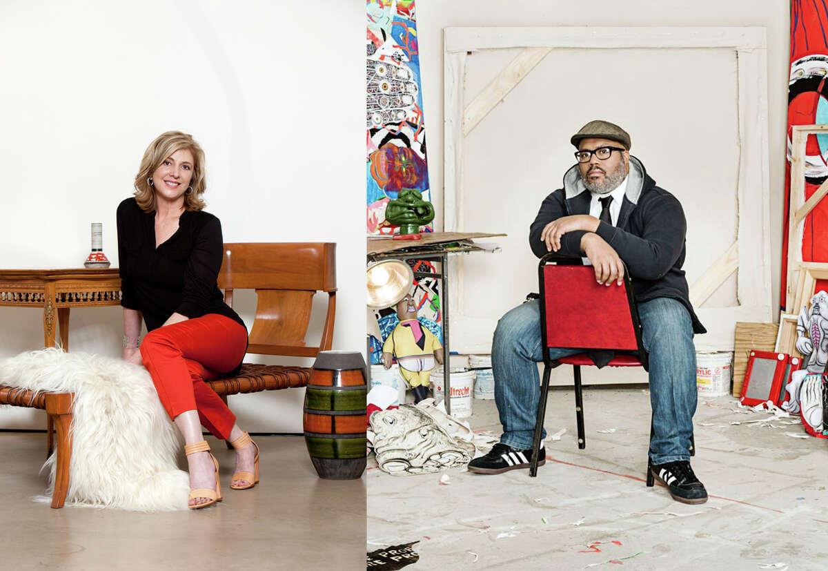 Art League Houston has named Trenton Doyle Hancock its 2017 Texas artist of the year and Lynn Goode its 2017 Texas patron of the year.