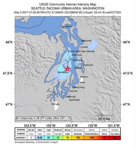 Earthquake reported near Port Orchard - seattlepi com