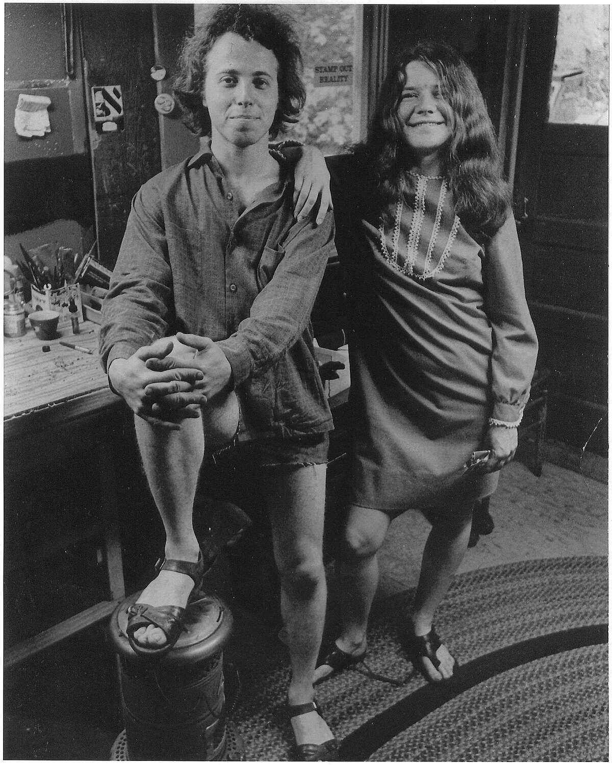 Dave Getz, drummer with Big Brother and the Holding Co., with Janis Joplin, Summer, 1966. Credit: Bob Seidemann