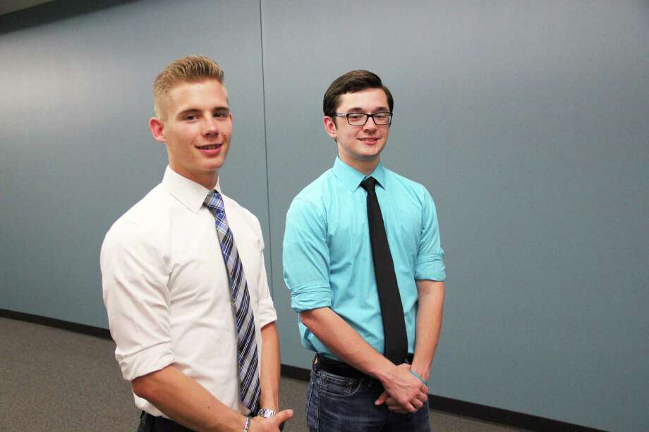 Seth Trosper, left, and Ted Frick helped organize an event to create awareness on mental issues faced by young people.
