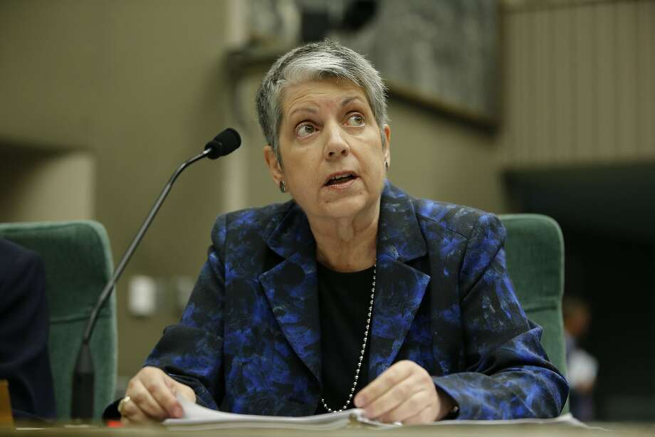 UC President Janet Napolitano during a joint legislative oversight hearing on May 2, 2017, at the California State Capitol in Sacramento. Photo: Santiago Mejia, The Chronicle