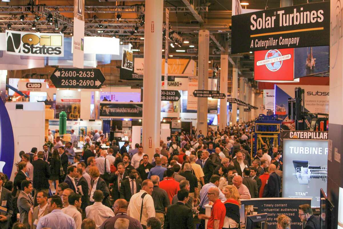 A view of the floor at the Offshore Technology Conference (OTC 2017) Wednesday, May 3, 2017, in Houston. ( Steve Gonzales / Houston Chronicle )