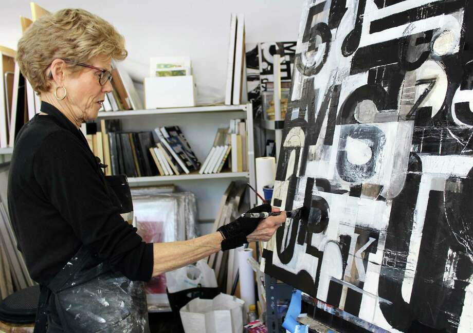 Karen Vogel at her studio in Norwalk on Monday. Photo: Erin Kayata / Contributed Photo / Darien News