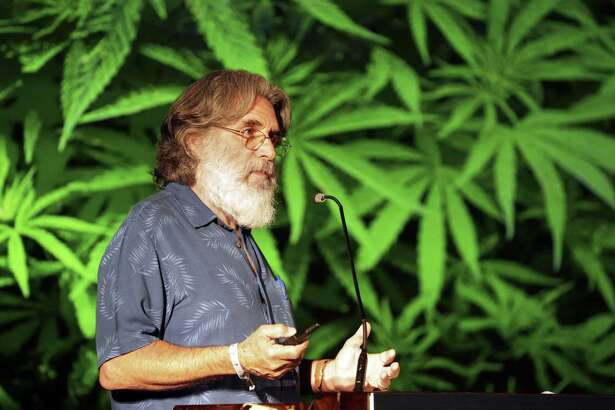 Mark Blumenthal gives the keynote speech as marijuana business investors pitch their ideas to investors at the Arcview Investor Forum at the AT&T Conference and Education Center in Austin in May.