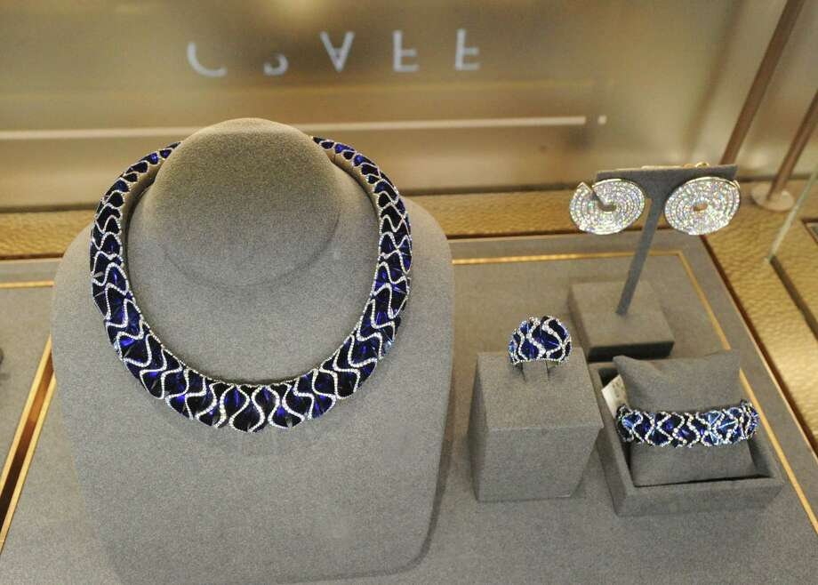 A Vhernier necklace was on display during the grand opening party of the fine jewelry store, The Vault , part of the Saks Fifth Avenue Shops in Greenwich at 200 Greenwich Avenue., Greenwich, Conn., Wednesday, May 3, 2017. Photo: Bob Luckey Jr., Hearst Connecticut Media / Greenwich Time