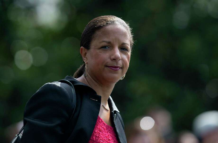 FILE - In this July 7, 2016, file photo, then-National Security Adviser Susan Rice follows President Barack Obama across the South Lawn of the White House in Washington, to board Marine One. Rice, is declining an invitation to testify before a Senate Judiciary subcommittee investigating Russia's interference in the 2016 election. Rice's attorney sent a letter to South Carolina Sen. Lindsey Graham, informing the Republican that Rice would not appear before the subcommittee on May 8, 2017, with two other Obama administration officials. (AP Photo/Carolyn Kaster, File) Photo: Carolyn Kaster, STF / Copyright 2016 The Associated Press. All rights reserved. This material may not be published, broadcast, rewritten or redistribu