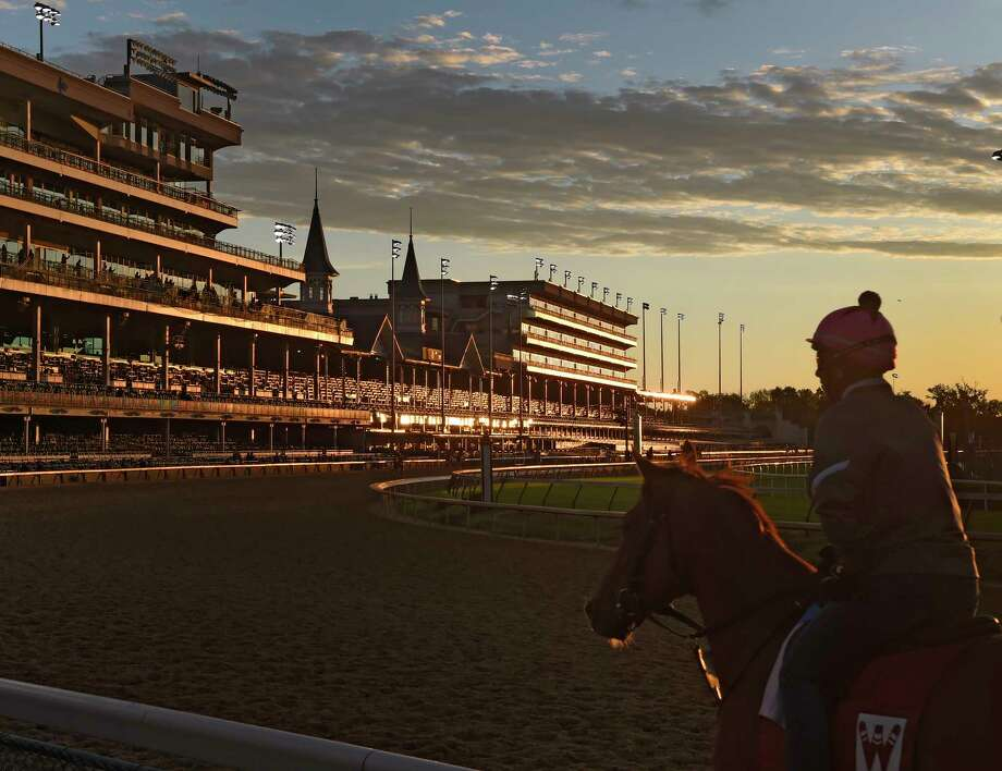 Horses get their exercise on a beautiful morning at Churchill Downs, the home of the Kentucky Derby Wednesday May 3, 2017 in Louisville, Kentucky. The 143rd running of the Kentucky Derby will run Saturday May 6th. (Skip Dickstein/Times Union) Photo: SKIP DICKSTEIN