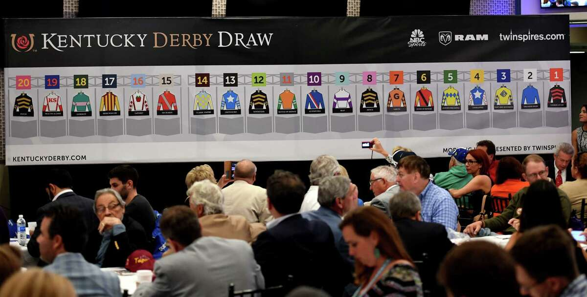 The field is set for the 143rd running of the Kentucky Derby after the post position draw at Churchill Downs Wednesday May 3, 2017 in Louisville, Kentucky. The 143rd running of the Kentucky Derby will run Saturday May 6th. (Skip Dickstein/Times Union)