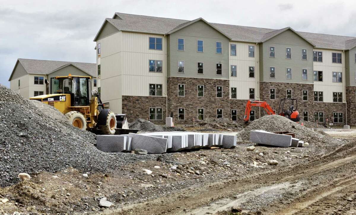 College Suites at Hudson Valley nears completion Wednesday May 3, 2017 in Troy, NY. (John Carl D'Annibale / Times Union)