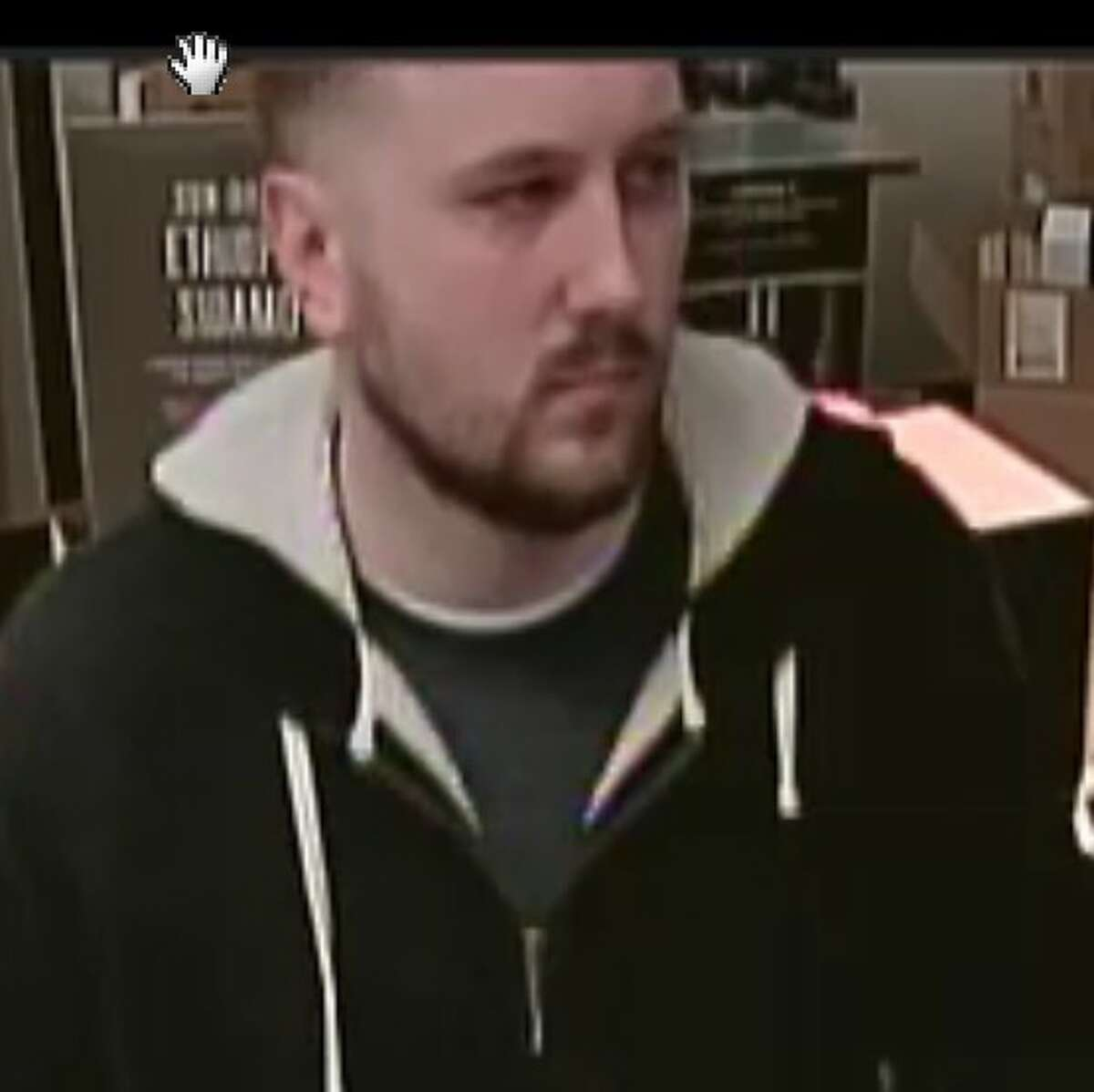 Colonie police used this surveillance photo to identify Jonathan H. Waters as a suspect after a Starbucks employee found a camera inside the cafe's bathroom in in May 2017.