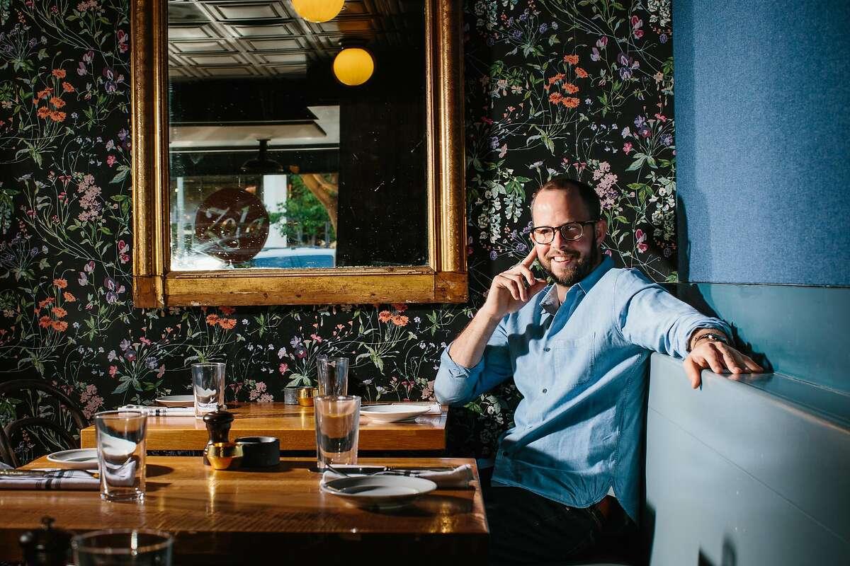 Chef-Proprietor Guillaume Bienaime of Zola in Palo Alto, California, on April 27th, 2017.