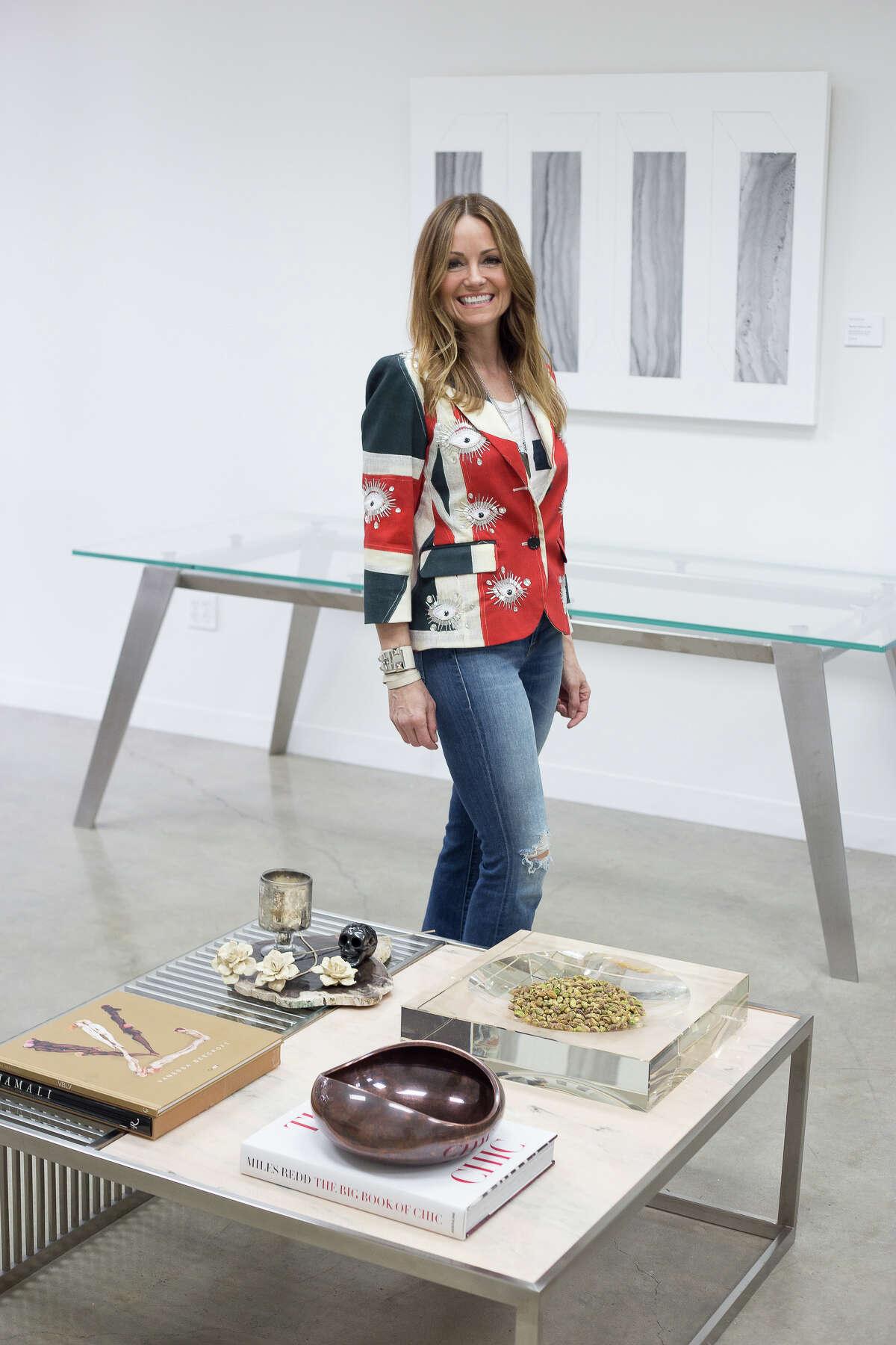 The Coffee Tablescape by interior designer Lucinda Loya at the Houston Design Center's DASH BASH helps kick off the DASH Market.