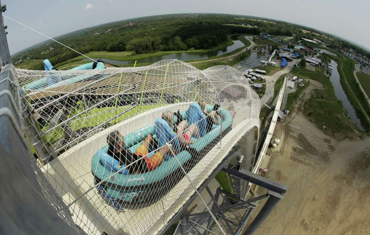 In 2014, the Schiltterbahn Water Park in Kansas City, Kansas, installed the Verrückt, the world's tallest water slide. It stands at 17 stories tall. >>Things to know about Schlitterbahn's deadly water slide