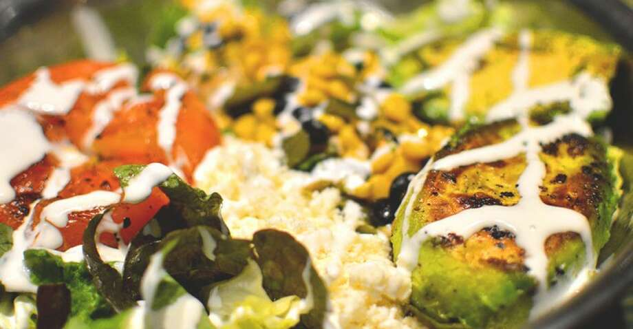 The grilled avocado salad is a top seller at Snappy Salads. Photo: Snappy Salads