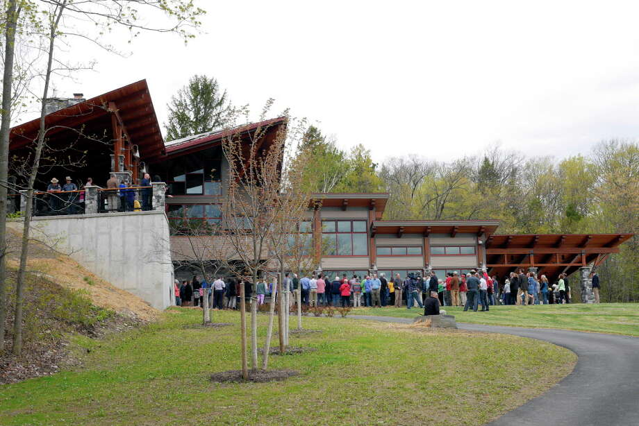 Click through for a slideshow of latest upgrades at Capital Region state parks. A view of the  new 8,240 square-foot Thacher Park Center during a grand opening ceremony on Thursday, May 4, 2017, in Voorheesville, N.Y.  (Paul Buckowski / Times Union) Photo: PAUL BUCKOWSKI, Albany Times Union / 20040411A