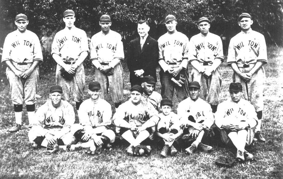 A photograph of the 1923 Wilton Farmers' roster. In the following year, the Farmers had one of their best seasons and won the coveted Norwalk City Championship. Photo: Contributed Photo