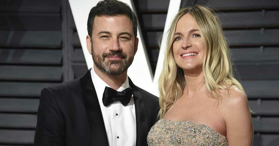 Jimmy Kimmel and his wife Molly McNearney in Beverly Hills on February 27, 2017. Photo: Evan Agostini / Associated Press / 2017 Invision
