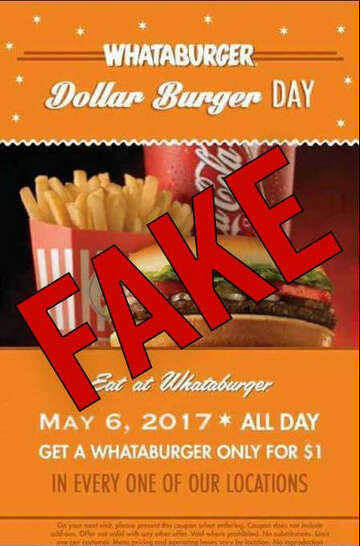 Hoax alert: That Whataburger coupon for $1 burgers is fake