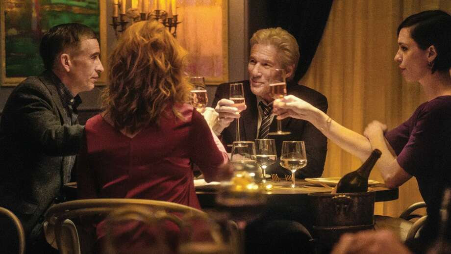 """Steve Coogan, Richard Gere, Rebecca Hall and Laura Linney in """"The Dinner."""" Photo: The Orchard / TNS"""
