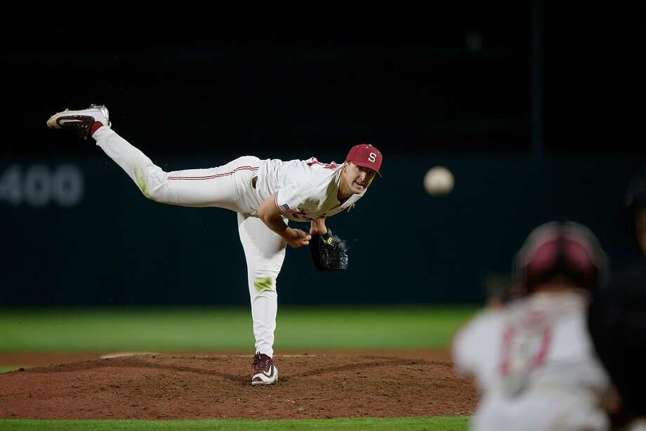 Colton Hock has 12 saves this season, one shy of Stanford's record, shared by Jeff Bruksch and Steve Chitren. Photo: Unknown, Stanford Athletics