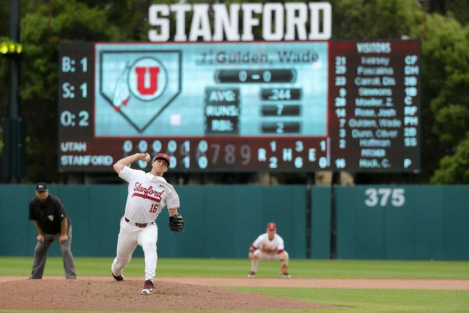 Colton Hock is one save shy of Stanford's school record. Photo: Unknown, Stanford Athletics
