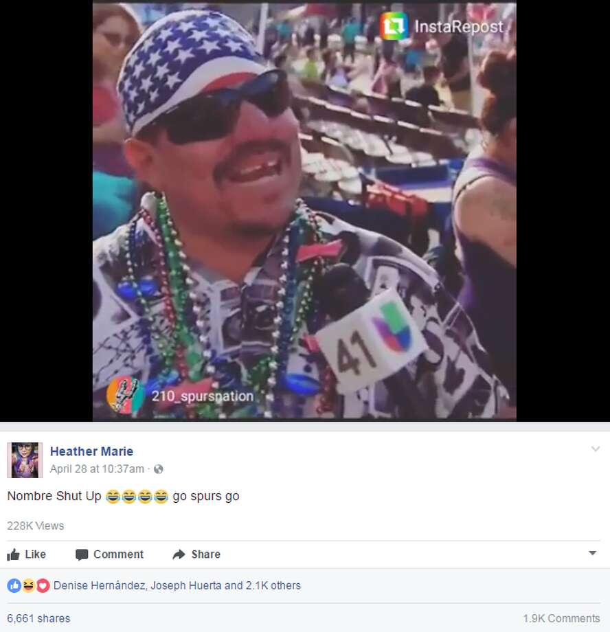 Heather Marie: Nombre Shut Up go spurs go Photo: Twitter, Facebook, Instagram