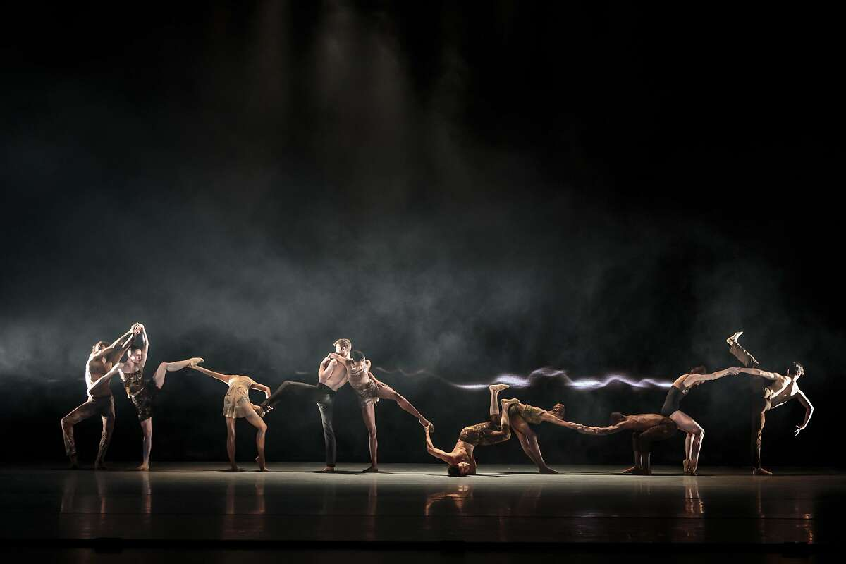 The LINES Ballet dancers perform in the world premiere of Figures of Speech, a collaboration between Alonzo King and Bob Holman, at Yerba Buena Center for the Arts, though May 14 Photo: Chris Hardy