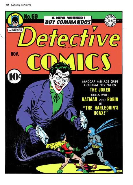 "A 1969 issue of DC Comics' ""The Batman Detective Comics"" features notorious villain The Joker.  Batman has captivated audiences since 1939. Photo: Jerry Robinson, HOEP / DC Comics"
