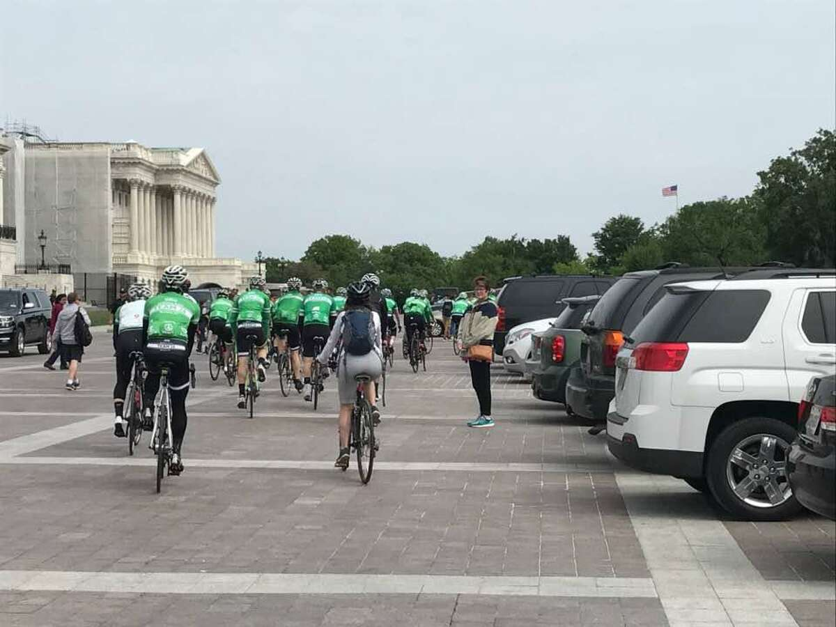 Team 26 begin their 400-mile journey leaving Capitol Hill in Washington, D.C. on Thursday, May 4, 2017. Their next stop will be College Park, Maryland. The 26 bicyclists who pedal to honor the Sandy Hook shooting victims are set to arrive in Newtown, Conn. on Sunday.