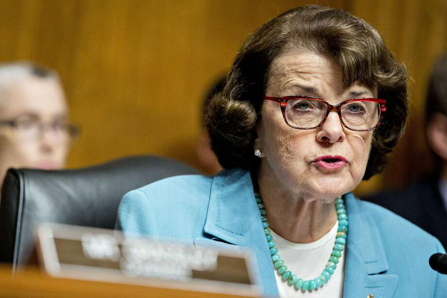 Senator Dianne Feinstein, a Democrat from California and ranking member of the Senate Judiciary Committee, makes an opening statement during a hearing with James Comey, director of the Federal Bureau of Investigation (FBI), not pictured, in Washington, D.C., U.S., on Wednesday, May 3, 2017. Comey faced tough questioning from senators in both parties Wednesday on his agency's investigation into possible links between Donald Trumps campaign and Russia, and his own impact on last years election. Photographer: Andrew Harrer/Bloomberg Photo: Andrew Harrer, Bloomberg