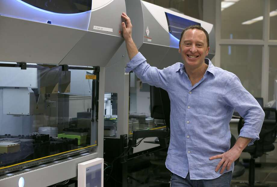 Matthew Rabinowitz, founder and CEO of Natera, is seen in a company genetics testing lab in San Carlos on May 4, 2017. Natera projects selling half a million tests this year, he said. Photo: Paul Chinn, The Chronicle